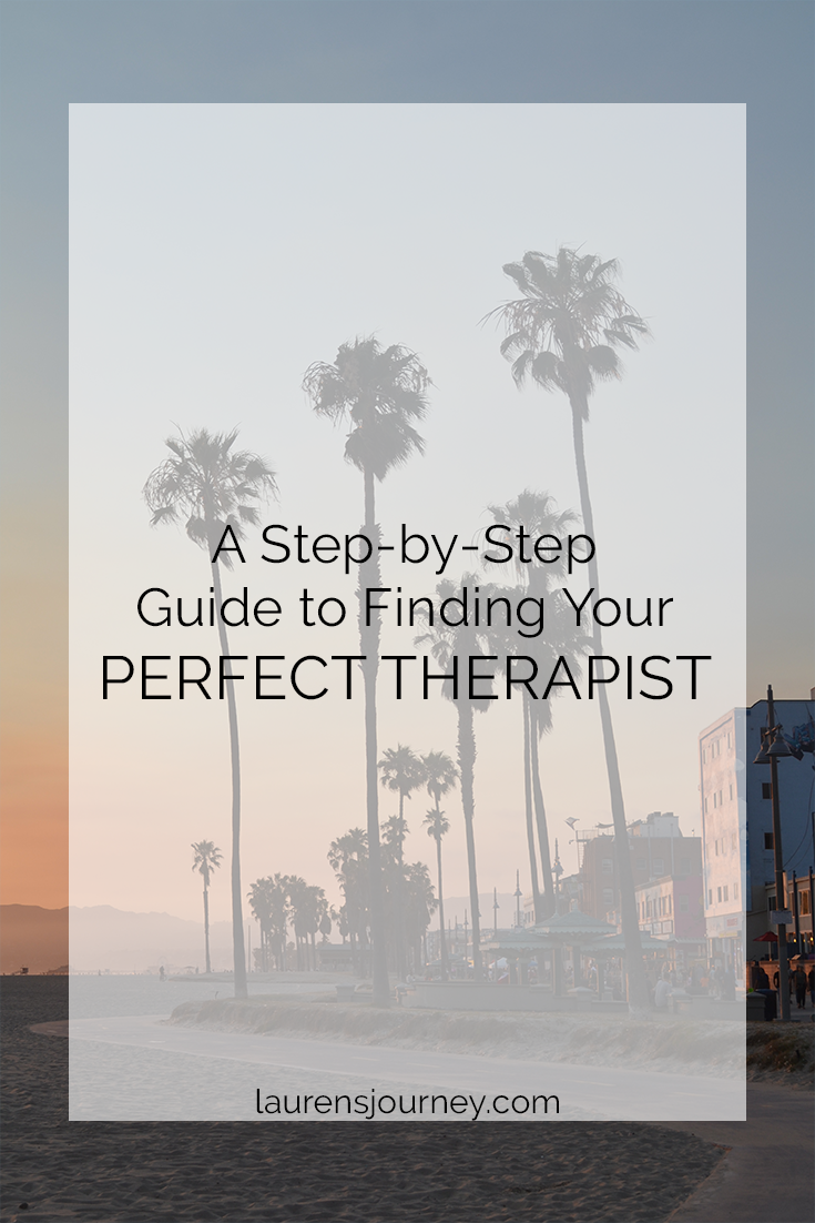 finding your perfect therapist // laurensjourney.com