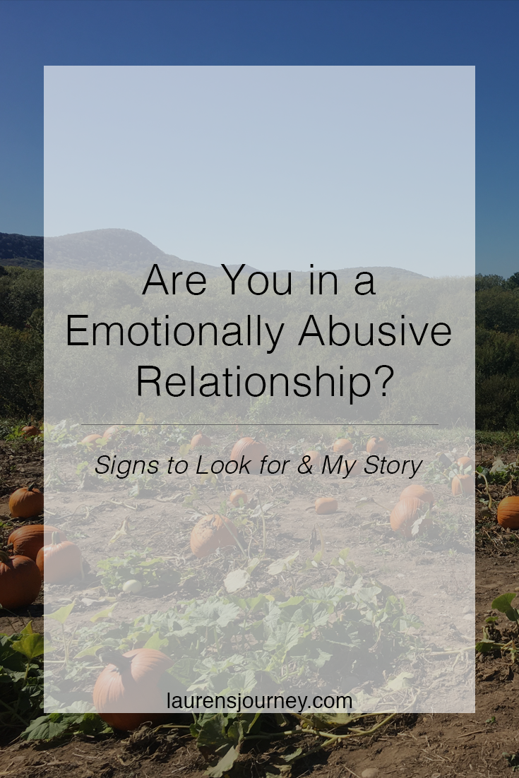 Are You in a Emotionally Abusive Relationship? // http://laurensjourney.com